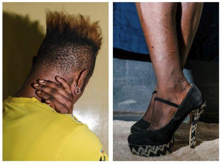 Gauche : Chupet, 22 ans, est une femme transgenre réfugiée originaire de République démocratique du Congo. ...