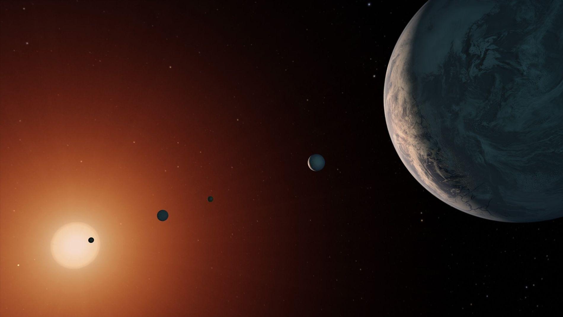 Vision artistique du système TRAPPIST-1