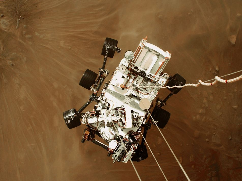 Découvrez la toute première vidéo d'un atterrissage sur Mars