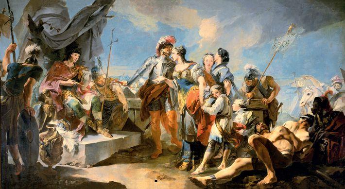 Selon certaines sources, Zénobie a tenté de fuir le siège de Palmyre sur un dromadaire. Capturée ...