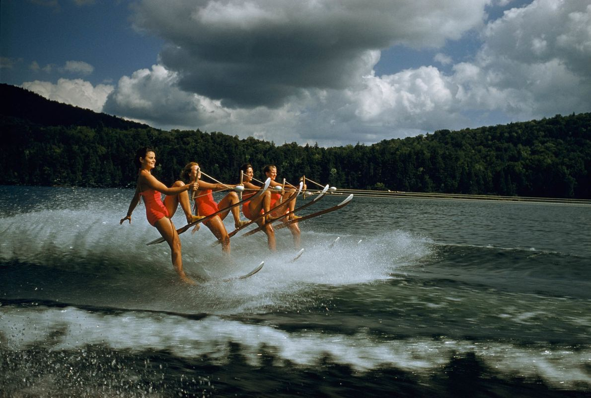 Ski synchronisé