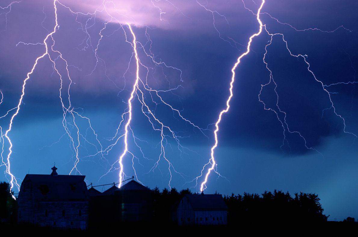 Pluie d'éclairs