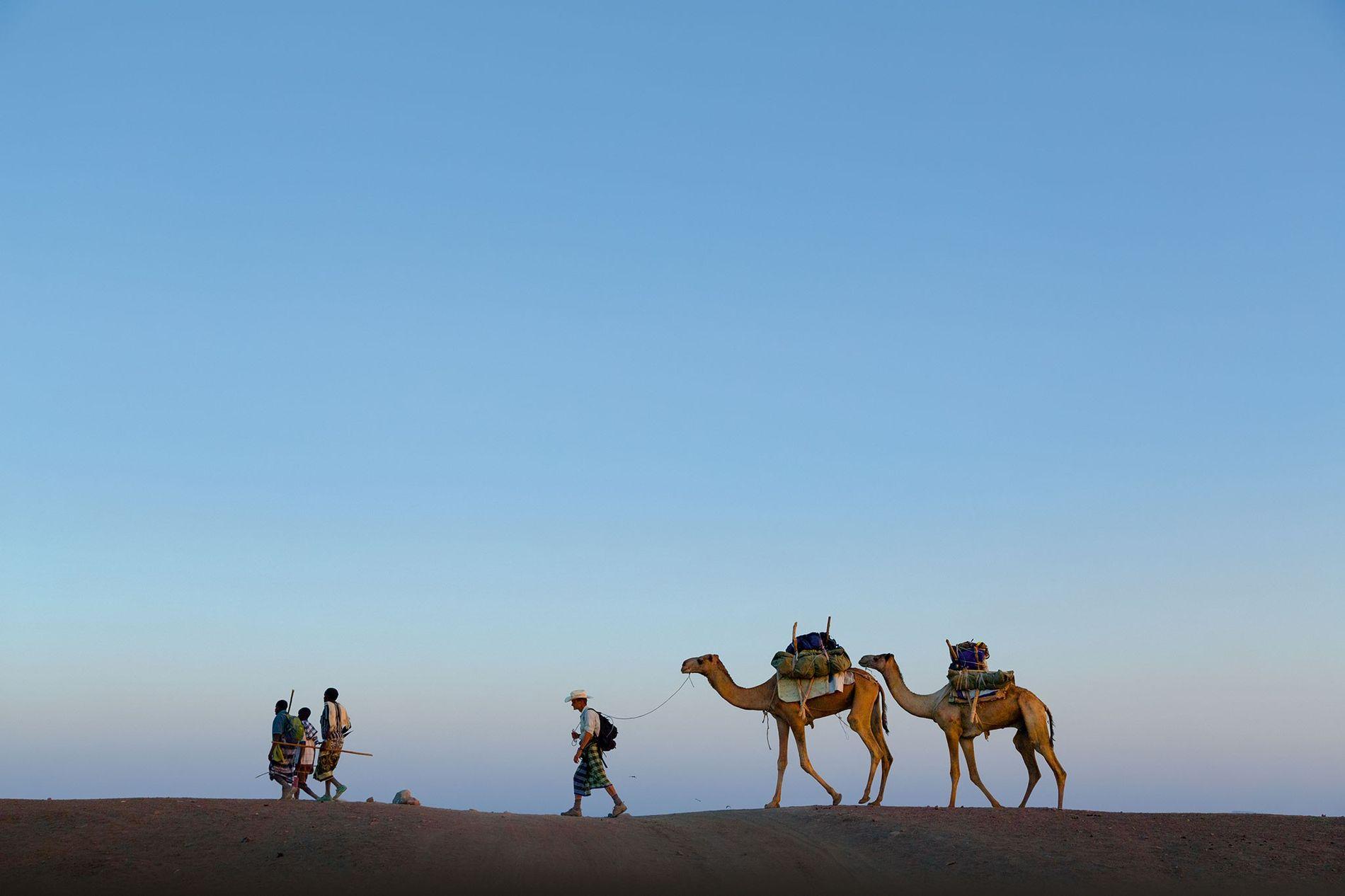 Peu de temps après le départ de Paul Salopek pour son voyage à travers le monde, ...