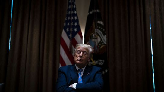 U.S. President Donald Trump listens during a meeting in Washington, D.C., in June 2020. Although Trump ...