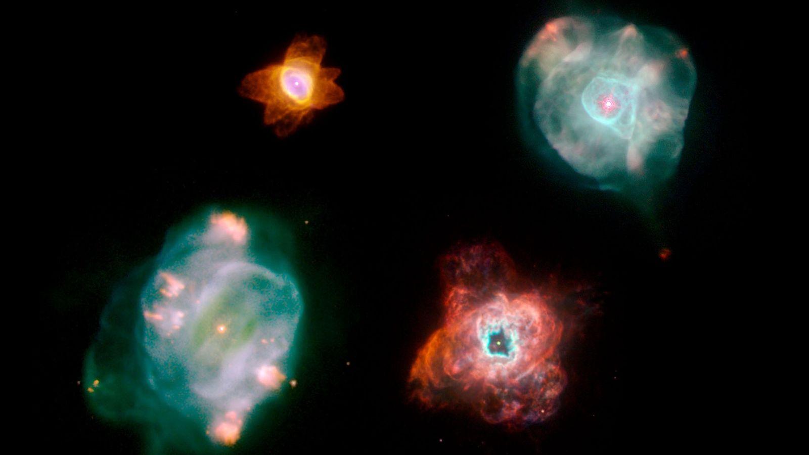 Les nébuleuses planétaires émettent des matériaux expulsés par les étoiles mourantes.