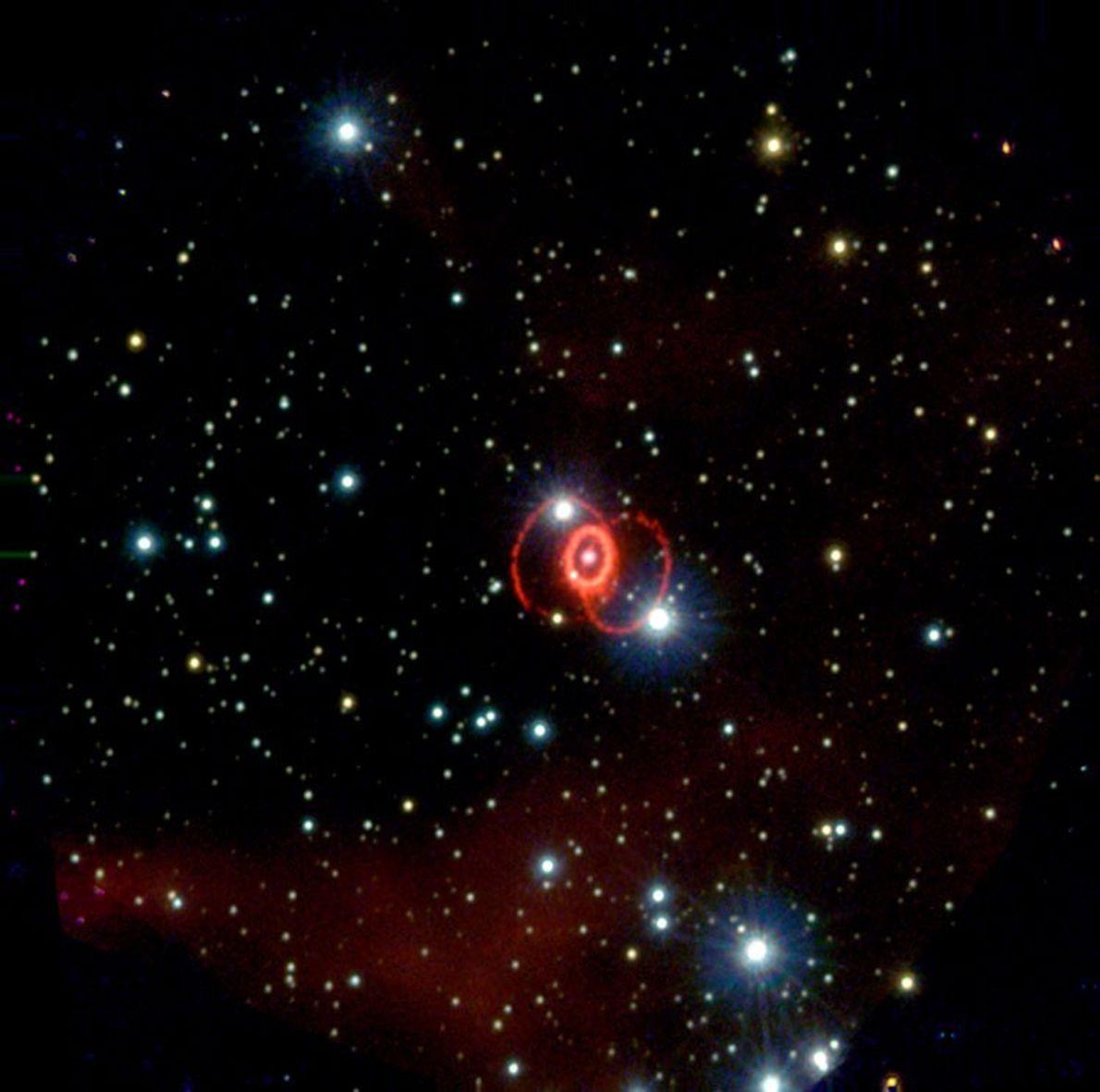 Les scientifiques pensent que cette supernova aurait été créée par l'explosion d'une étoile massive vers 165000avant ...