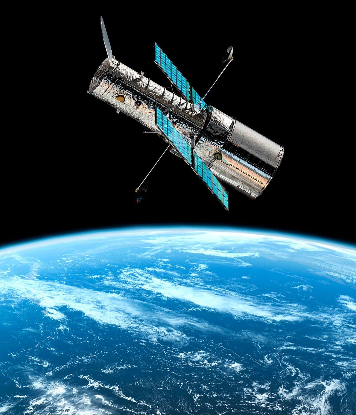 En orbite à 590km au-dessus de nos têtes, Hubble est considéré par la NASA comme l'un ...
