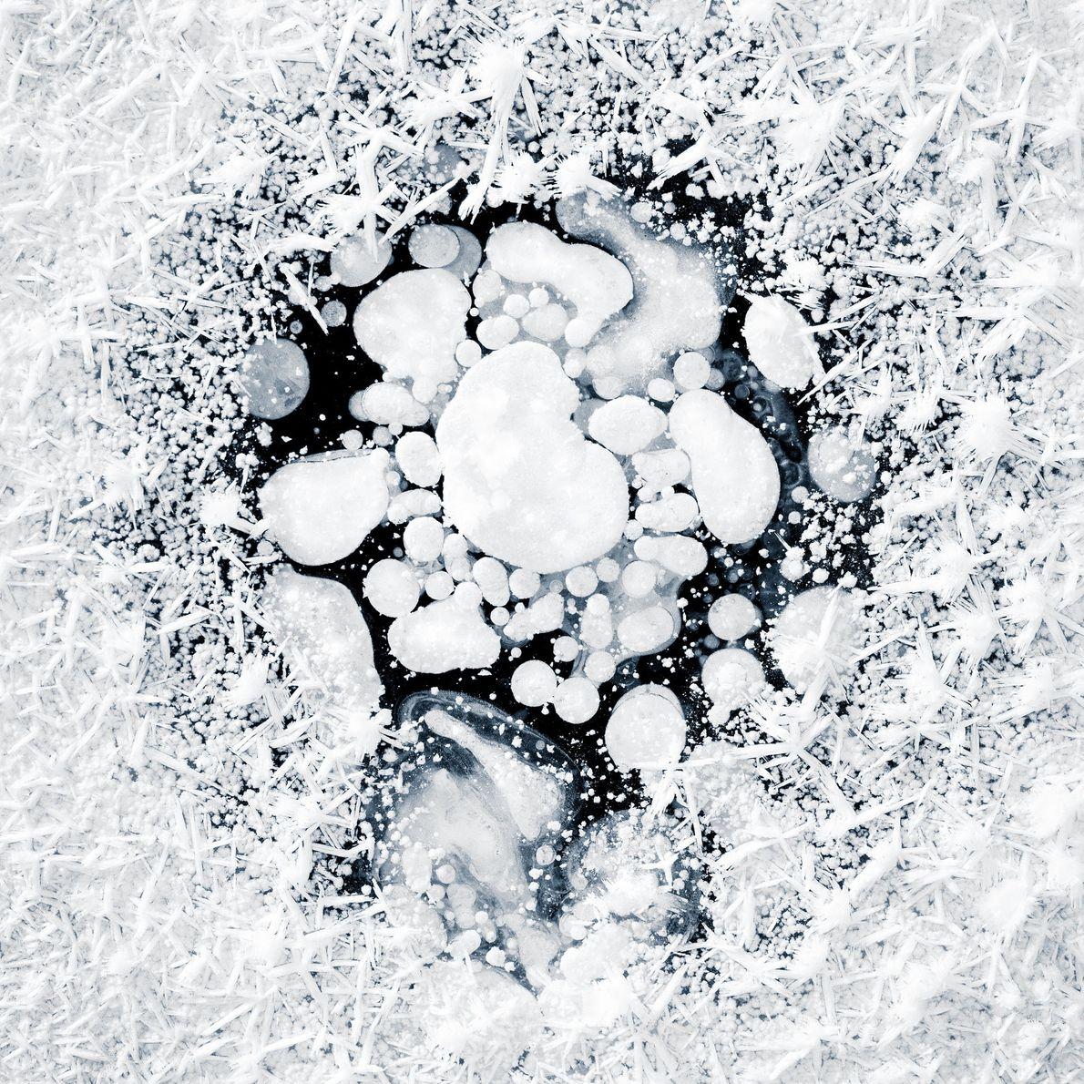 Kajita donne une explication scientifique du phénomène observé dans les photos de sa série Ice Formations, ...