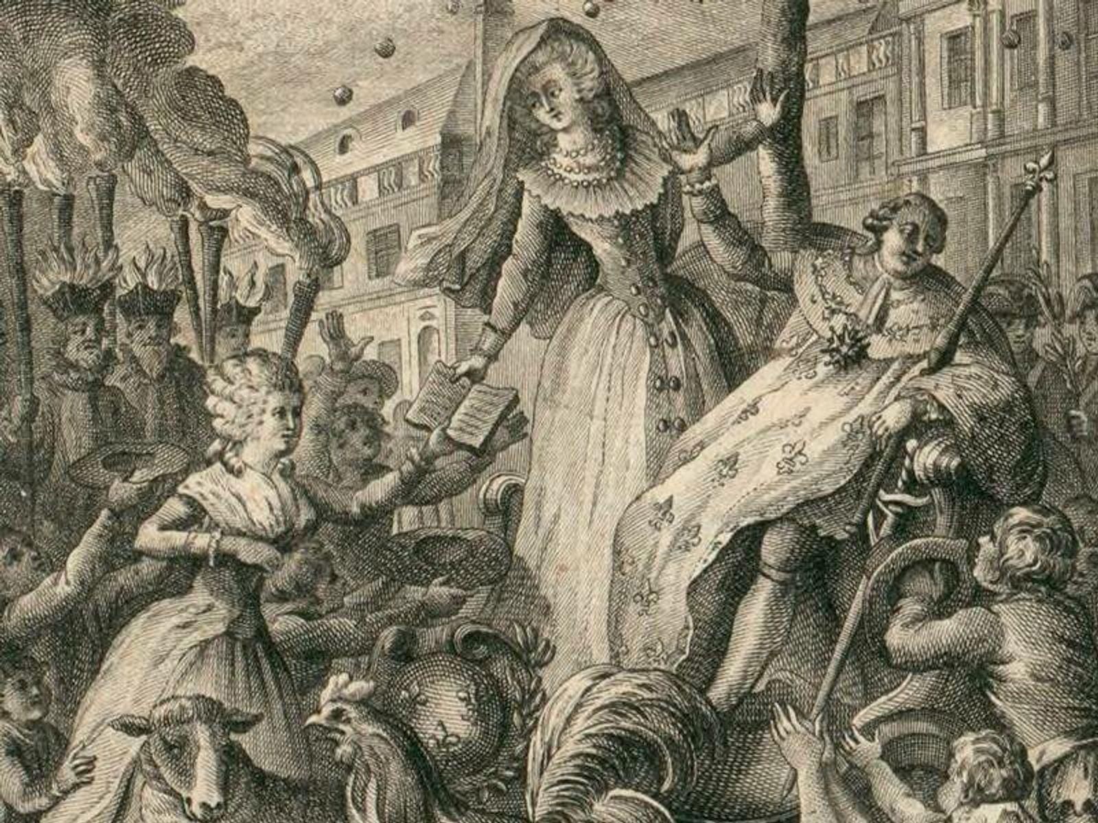 Olympe de Gouges remettant sa « Déclaration des droits de la femme et de la citoyenne ...
