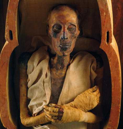 Momie de Ramsès II, Musée égyptien du Caire.