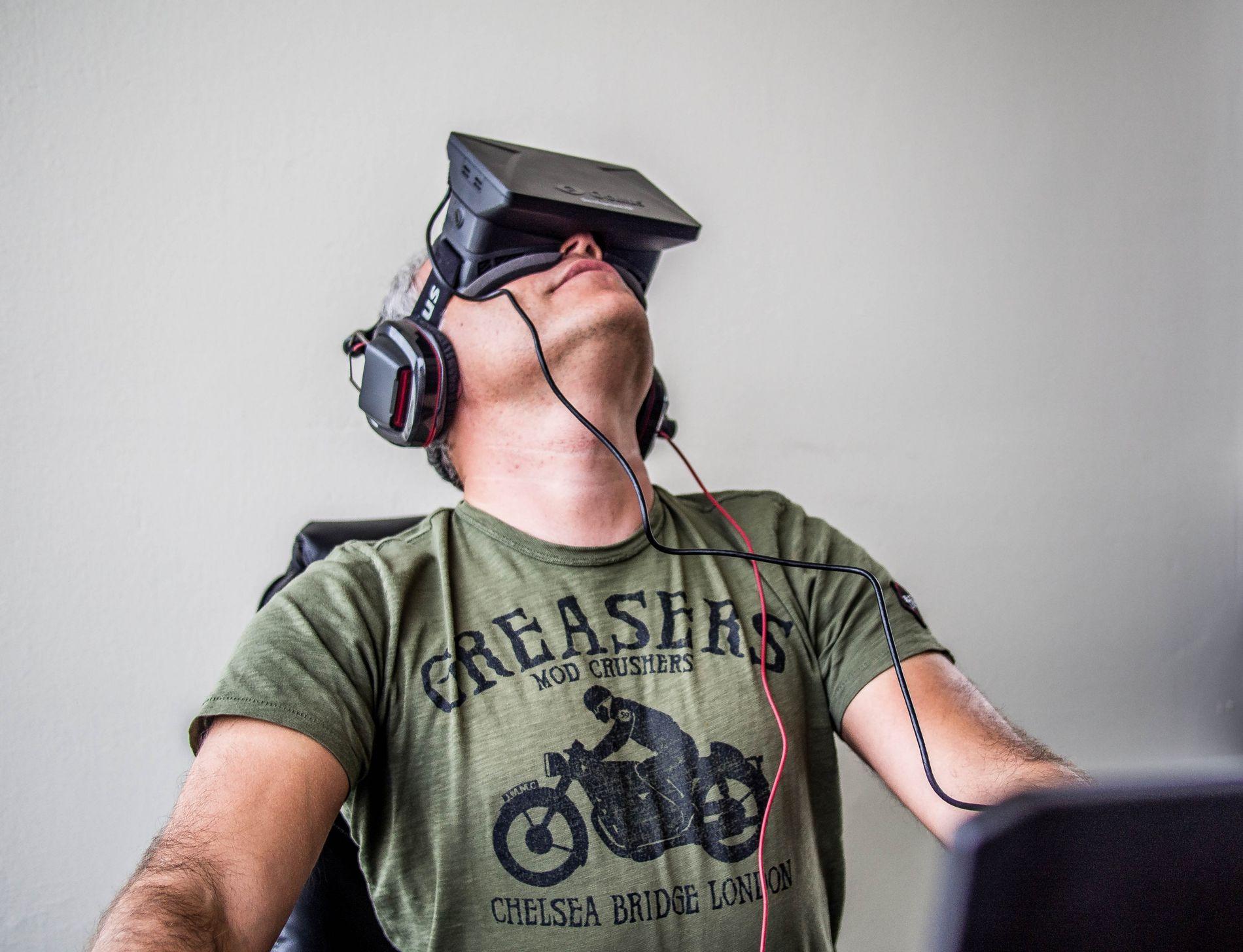 Réalité virtuelle : le visiocasque Oculus Rift.