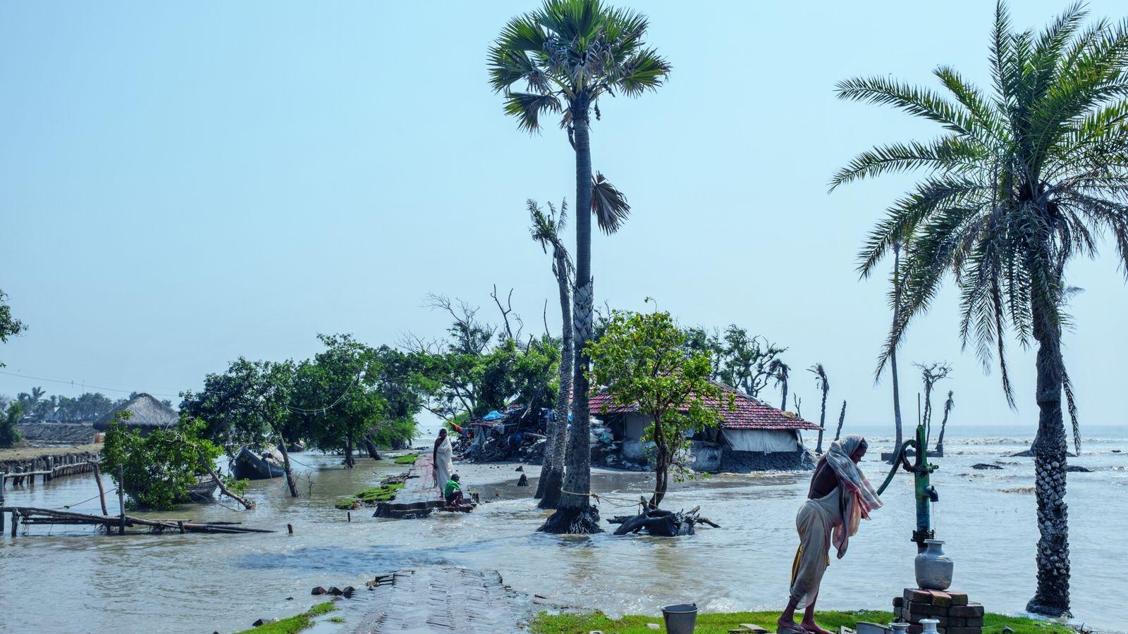 La région indo-bangladaise des Sundarbans disparaît peu à peu sous l'effet de la montée des eaux ...