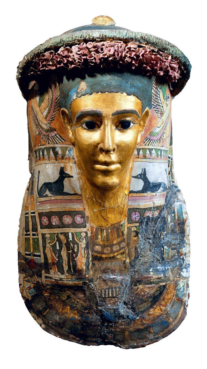 Ce masque funéraire datant de l'époque romaine a été mis au jour dans la région de ...