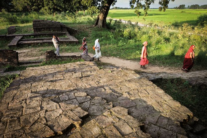 Les ruines de la ville de Kapilavastu, au Népal, où aurait grandi Siddhartha Gautama.