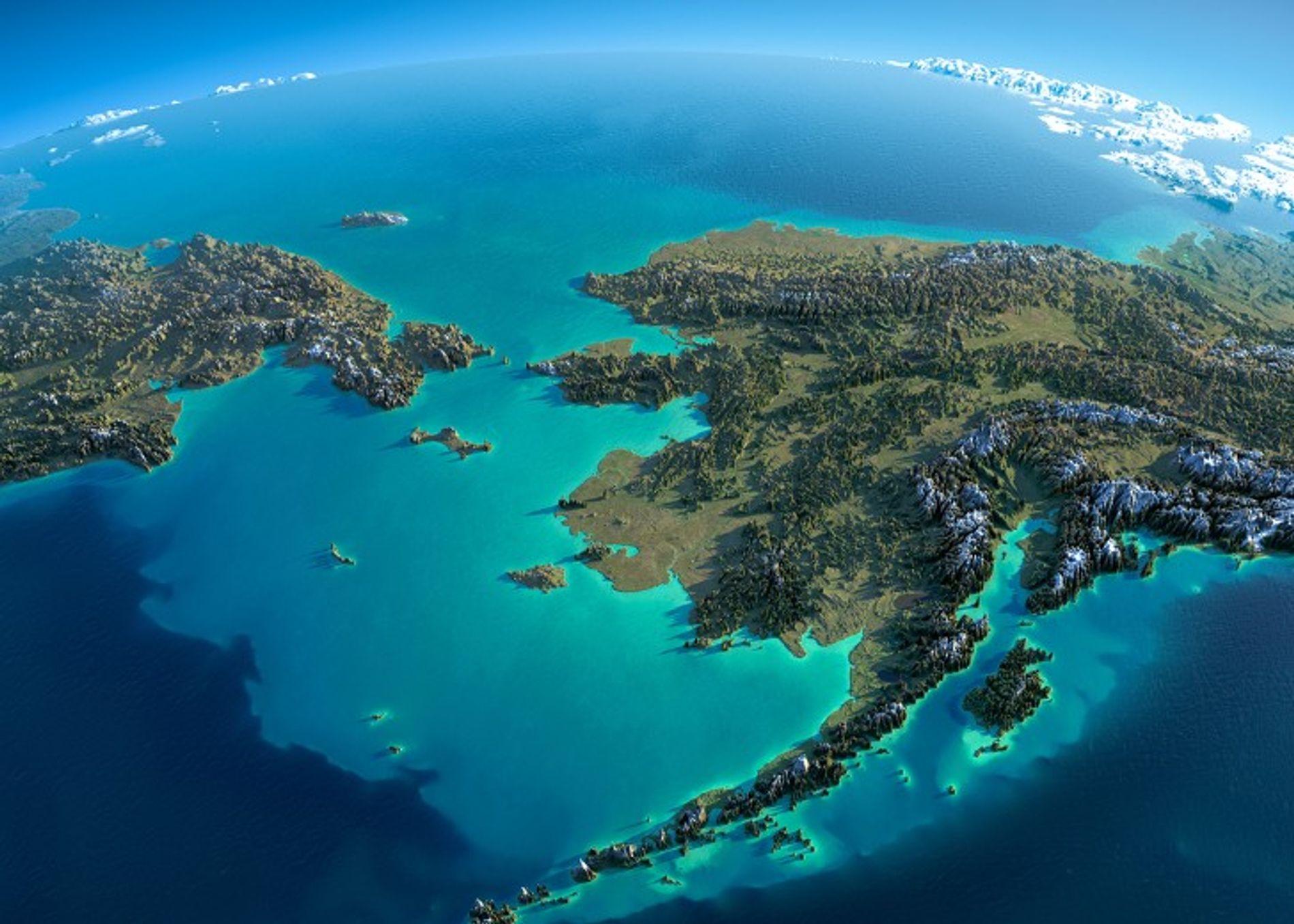 Le détroit de Béring, ou détroit de Behring, sépare d'environ 83 km la Sibérie orientale de ...