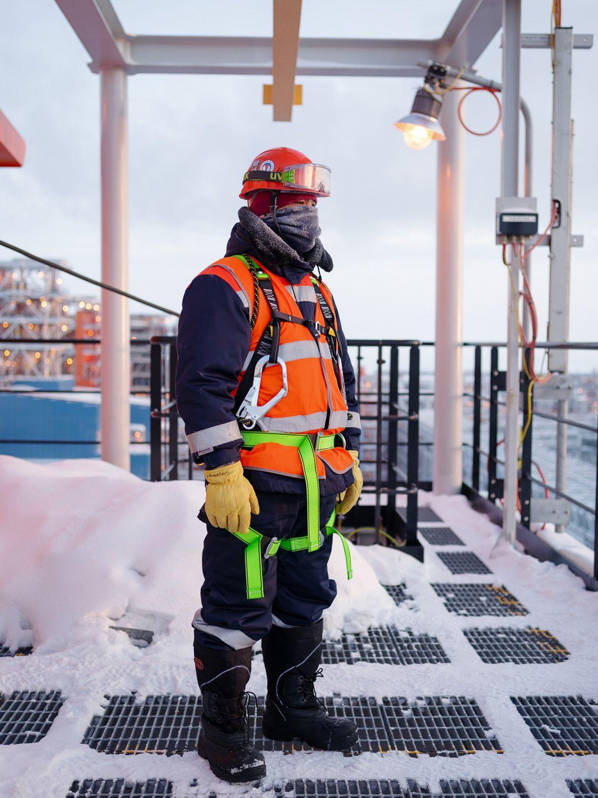 Nurlan est un des nombreux ouvriers de l'usine Yamal LNG originaire du Kazakhstan, un autre grand ...