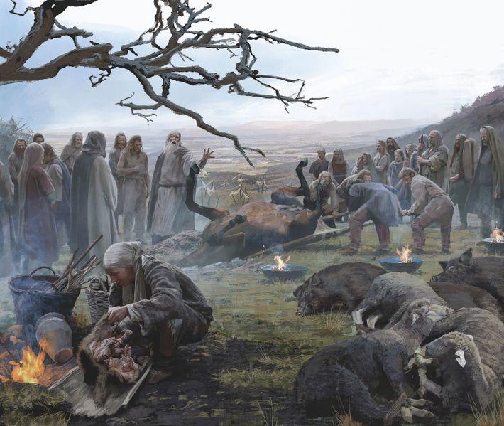 Sacrifice sur le Mormont. Un demi-siècle avant la bataille d'Alésia, les Celtes sacrifièrent des animaux, mais ...