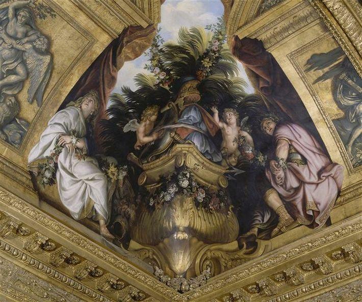 Titus et Bérénice, Salon de Vénus, Grands appartements du château de Versailles (René-Antoine Houasse, ca. 1678).