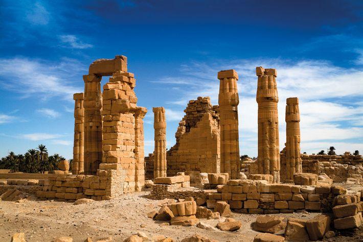 Le temple de grès d'Amenhotep III à Soleb en Nubie (actuel Soudan) était le sanctuaire le ...