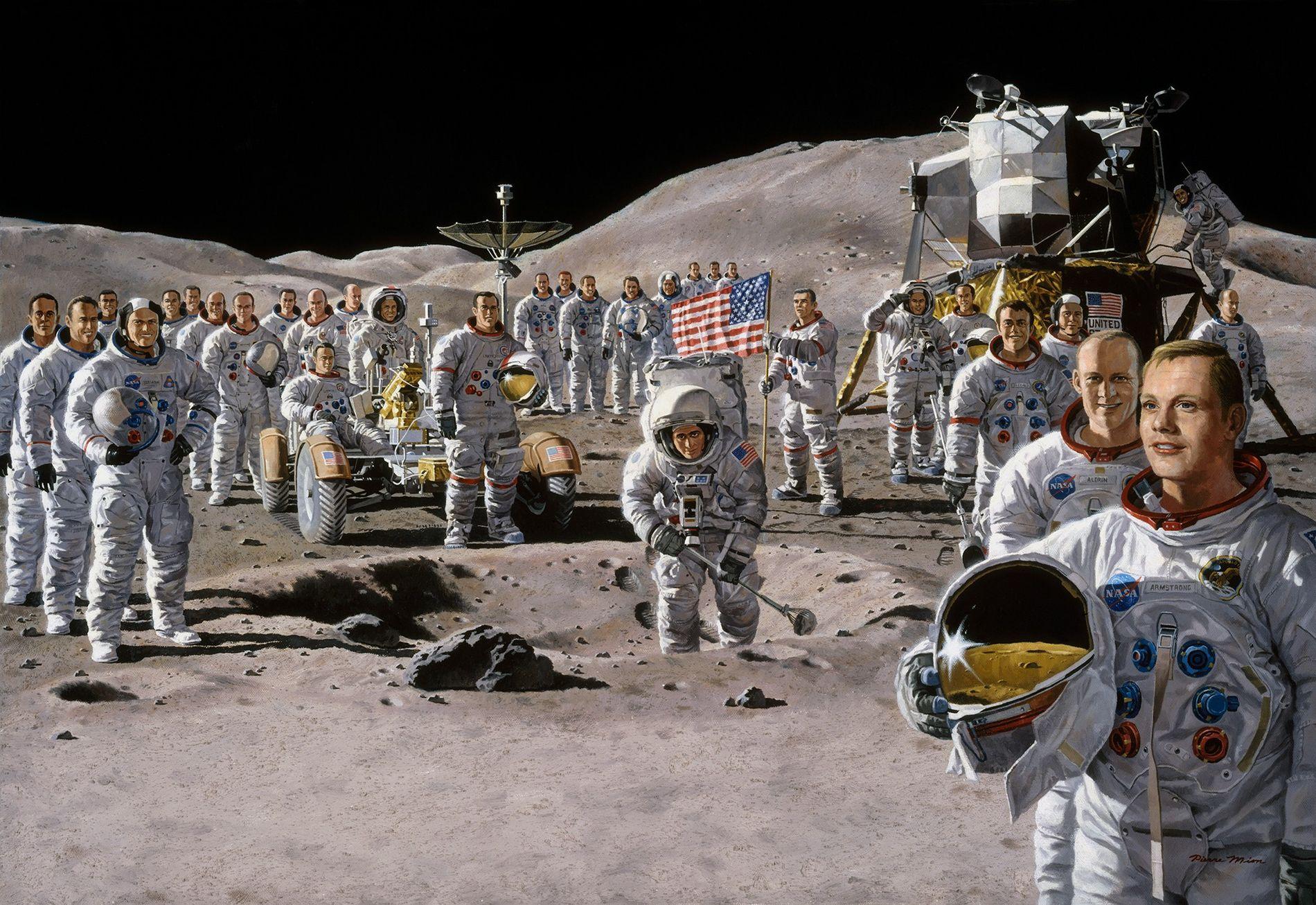 Un rêve commun d'atteindre la Lune a uni les astronautes et scientifiques de la mission Apollo. ...