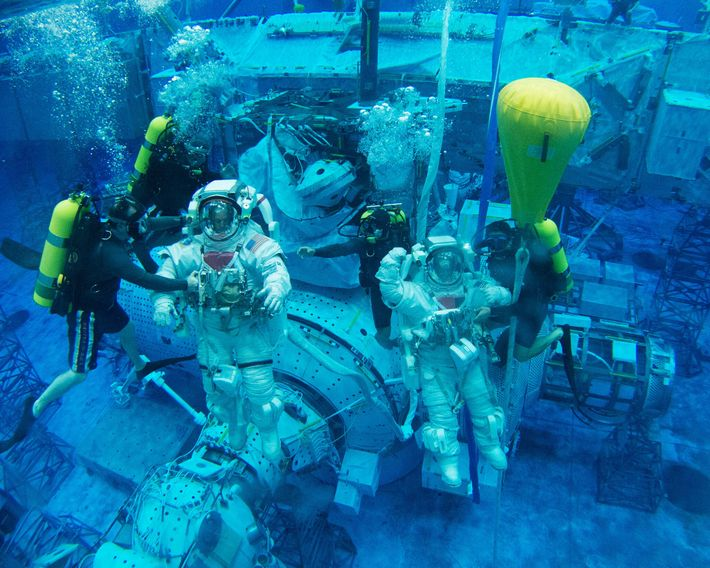 L'astronaute de la NASA Scott Tingle (à droite) fait partie des sélectionnés qui se prépareront pour les ...