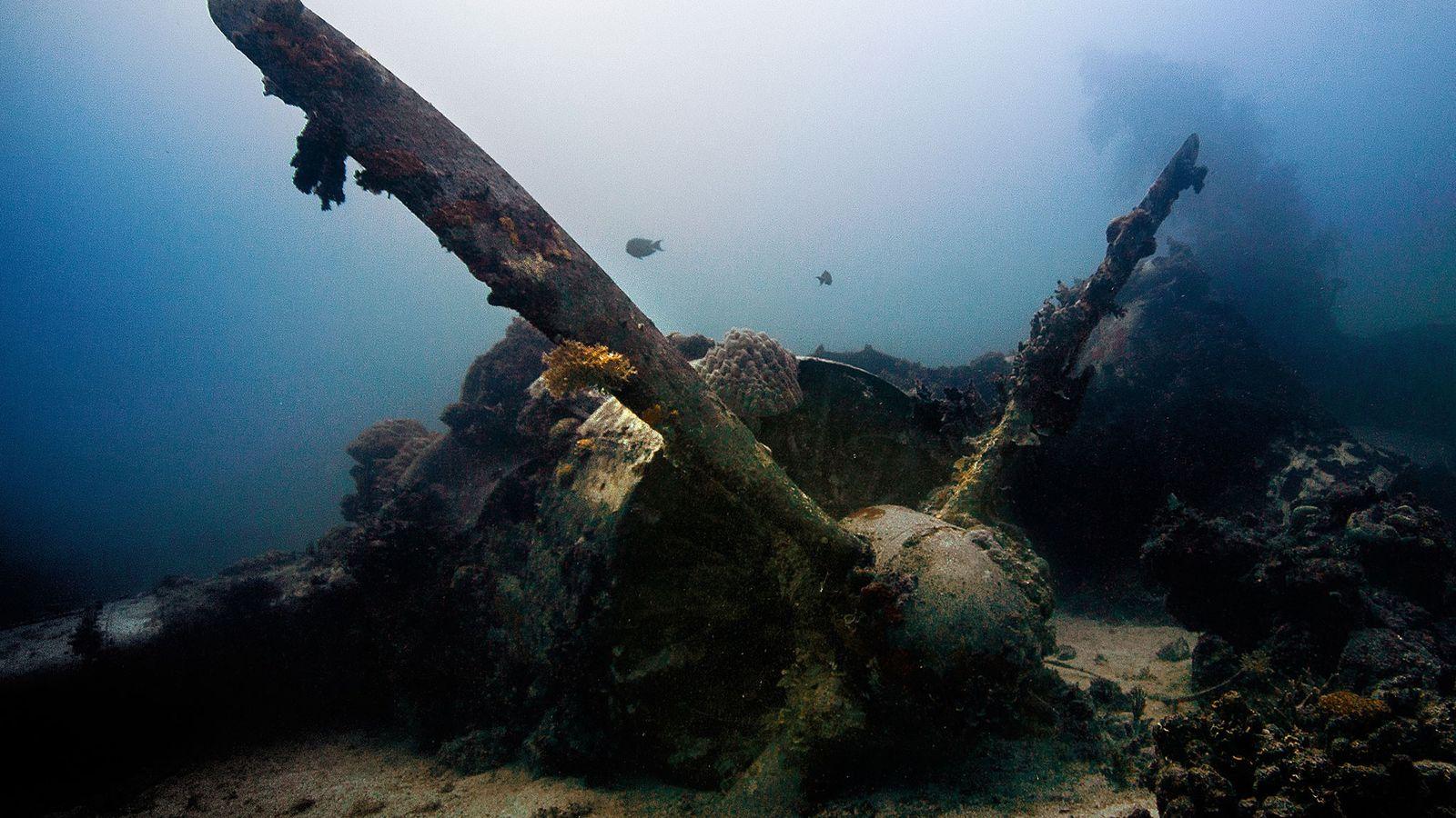 Le lagon de Truk, Micronésie.