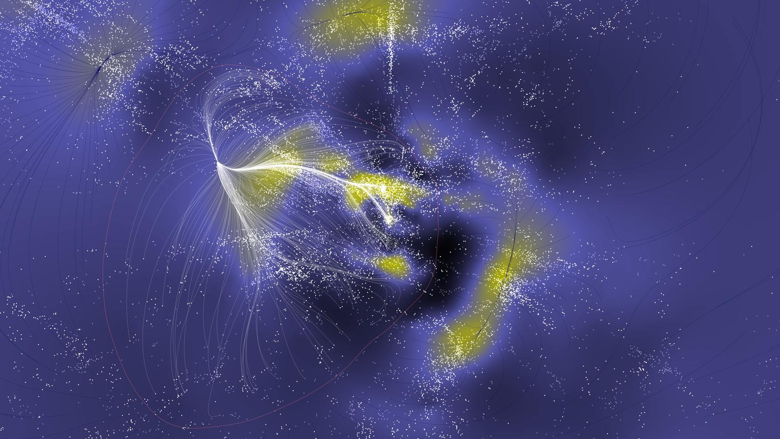 Les scientifiques ont créé la première carte d'un superamas colossal de galaxies connues sous le nom ...