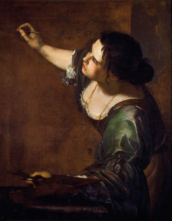 Dans ce tableau, Gentileschi rend hommage à une convention artistique de l'époque, l'allégorie, en représentant la ...