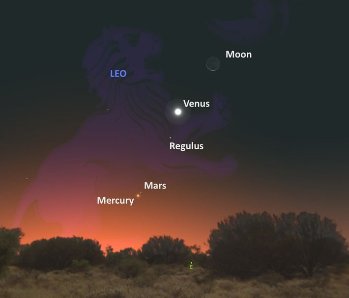 Le 17 septembre, de nombreux objets célestes s'aligneront pour former un tableau magnifique.