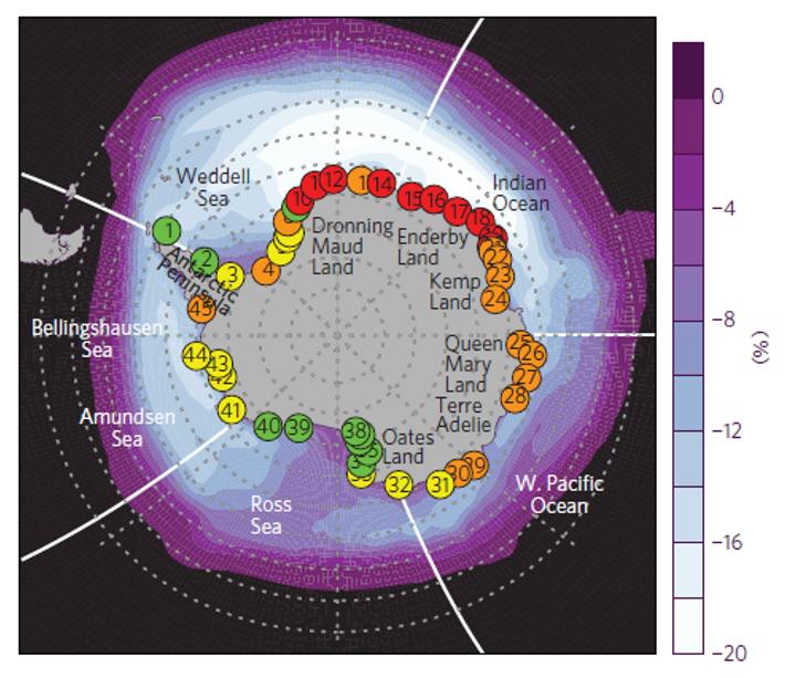 Estimation de l'état de conservation des colonies de Manchots empereurs en Antarctique d'ici 2100.