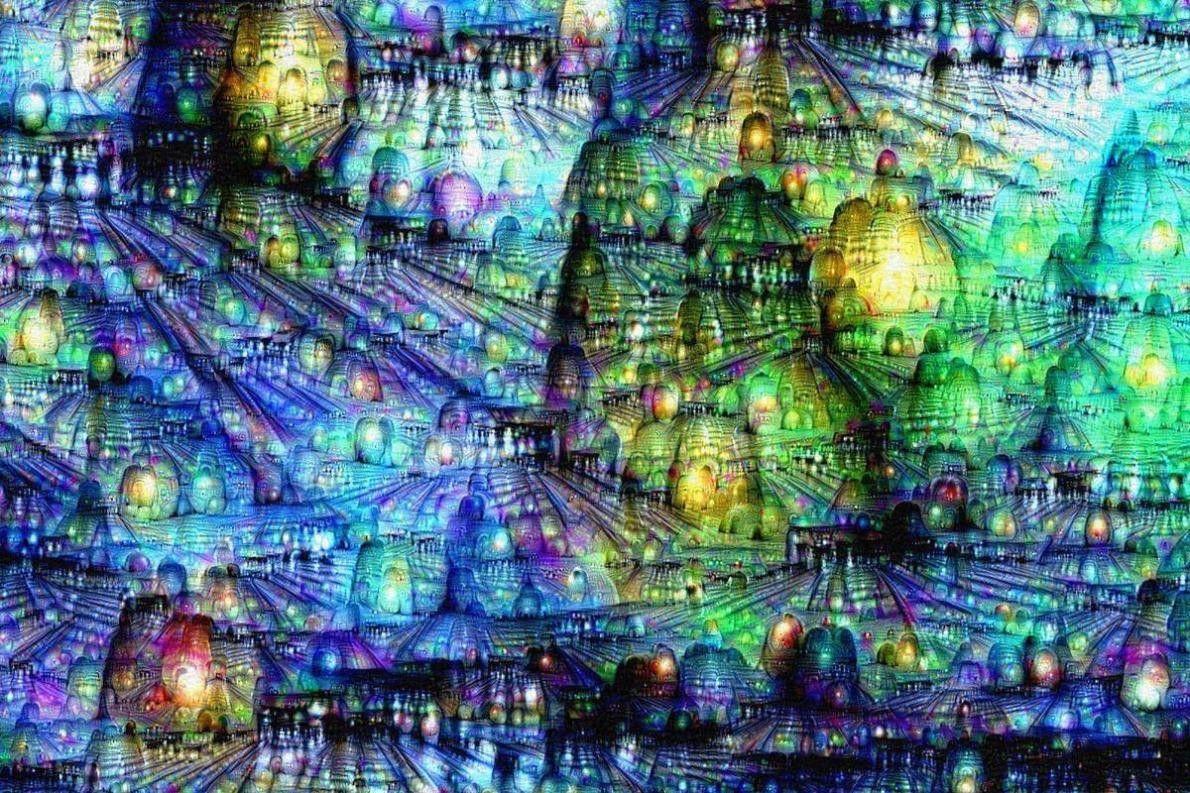Les ingénieurs ont ensuite soumis l'ordinateur au programme DeepDream. Ils lui ont fourni une toile de ...