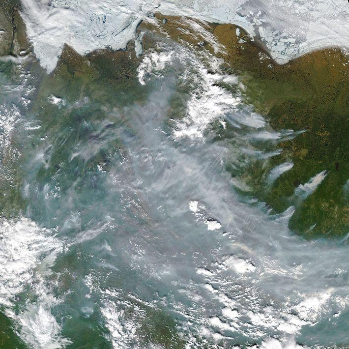 Les incendies de la toundra sibérienne vus de l'espace.