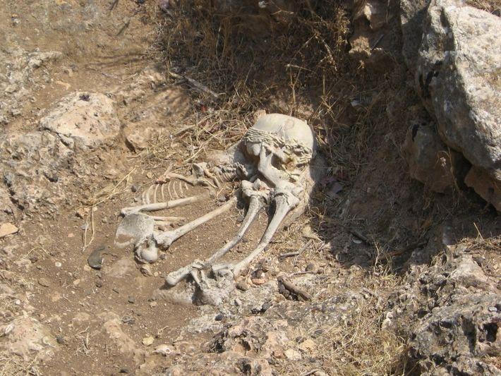 Sépulture natoufienne découverte à El Wad, sur le flanc ouest du Mont Carmel.