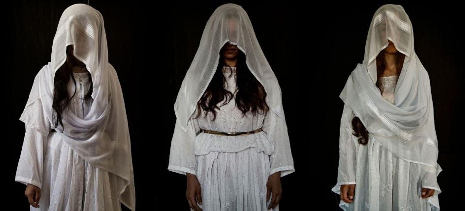 Portraits de femmes yézidies réduites en esclavage par des combattants de l'État islamique.