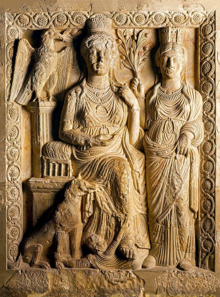 Représentée sur ce relief du 3e siècle sous les traits de la déesse Ishtar, Zénobie a ...
