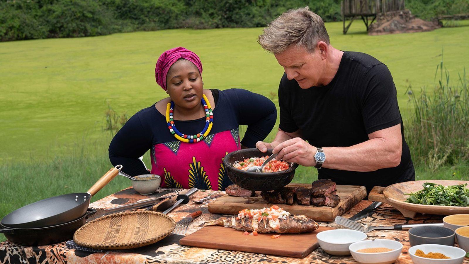 Gordon Ramsay est parti à la découverte des secrets culinaires de l'Afrique du Sud dans la nouvelle ...