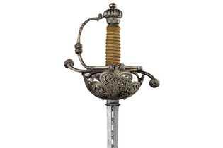 Rapière espagnole, épée longue et fine,1650.Les années passant,la plupart des pirates lui ont préféré des épées ...