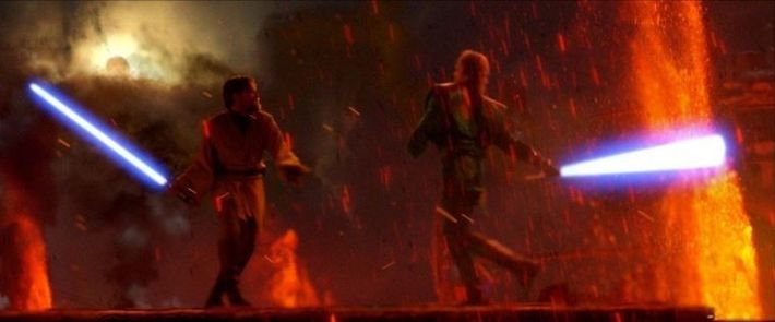 Point culminant du film La Revanche des Sith (2005), ce duel au sabre laser a principalement ...