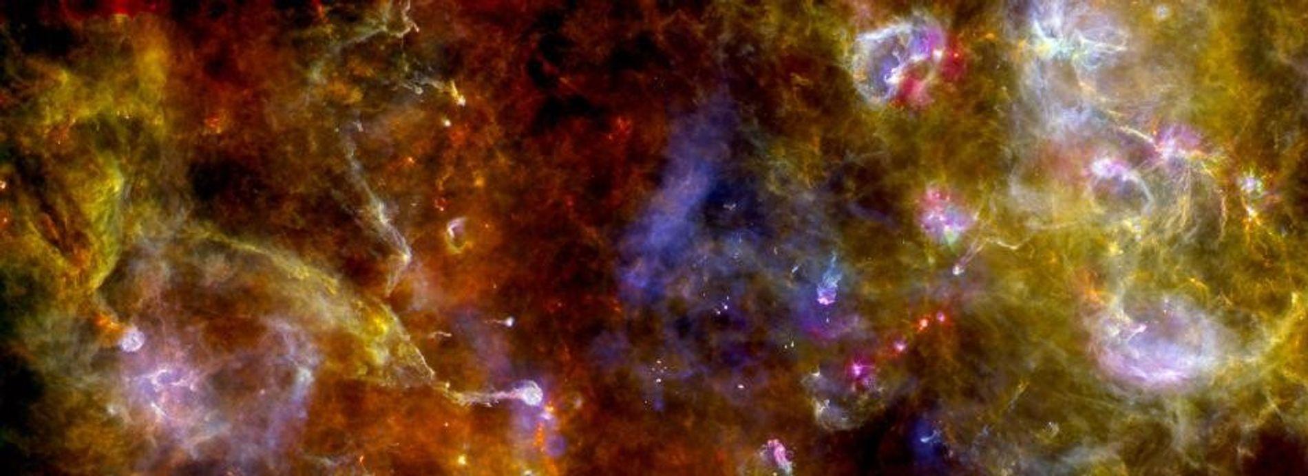 La région de formation d'étoiles de la constellation du Cygne vue aux rayons X.