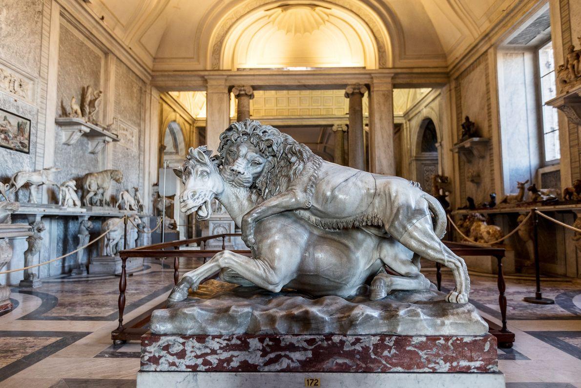 C'est le pape Pie VI qui a demandé la création de la Salle des Animaux, où ...