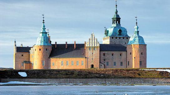 Le château de Kalmar, photographié ici en hiver.