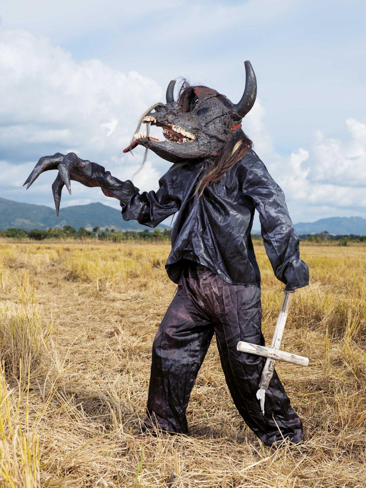 Le diable est un personnage-clé du carnaval dominicain. Celui-ci, nommé Tifuá, porte un masque pouvant notamment ...