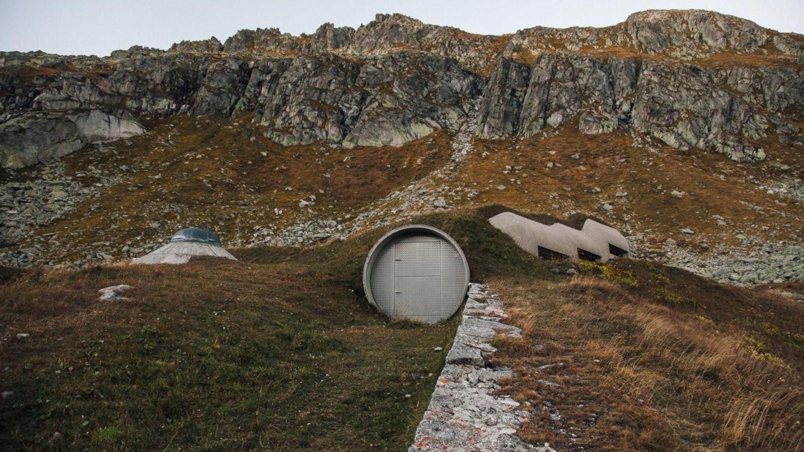 Entrée camouflée, Fort Ospizio