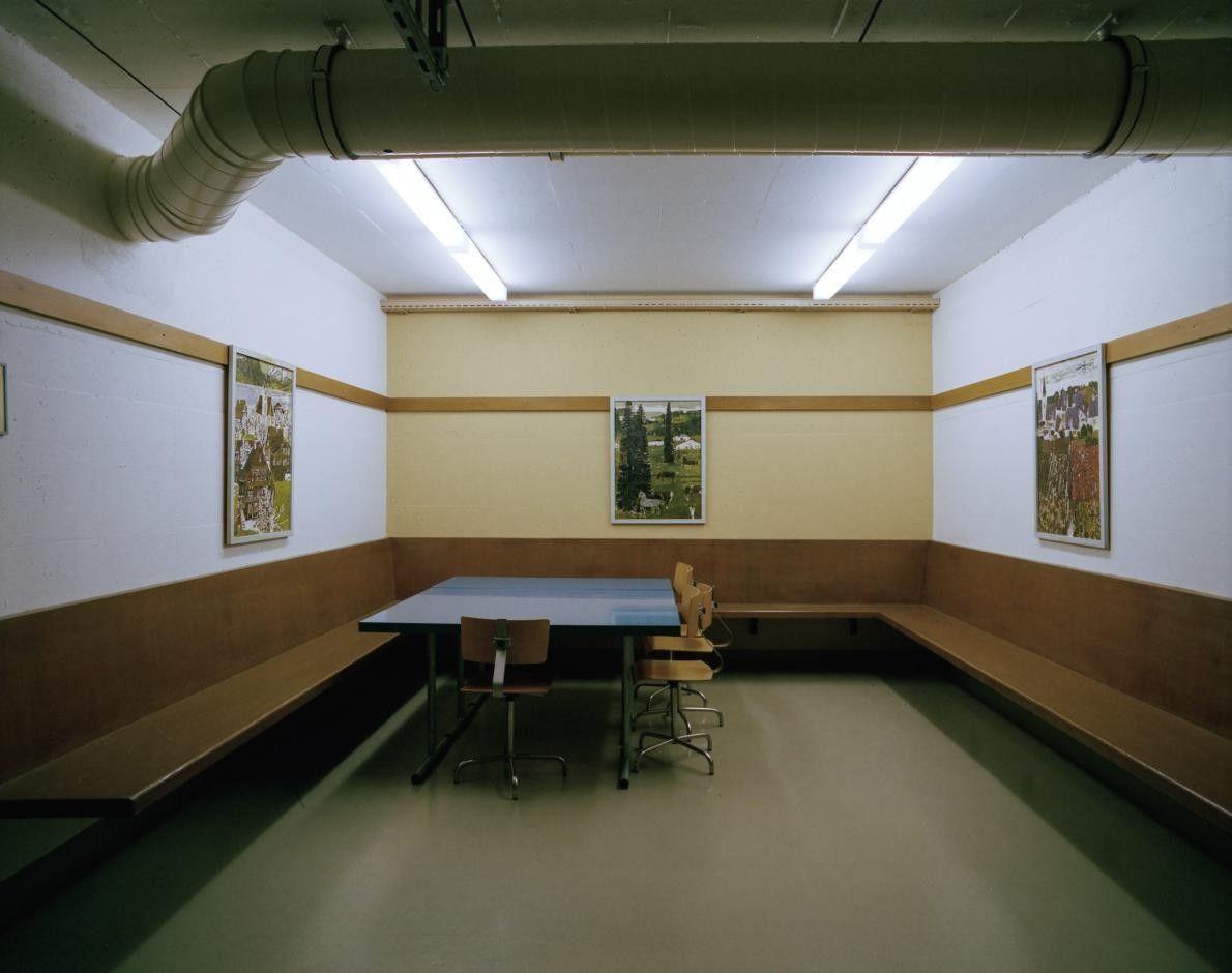 Salle de pause dans un hôpital sous-terrain, Fort Langnau