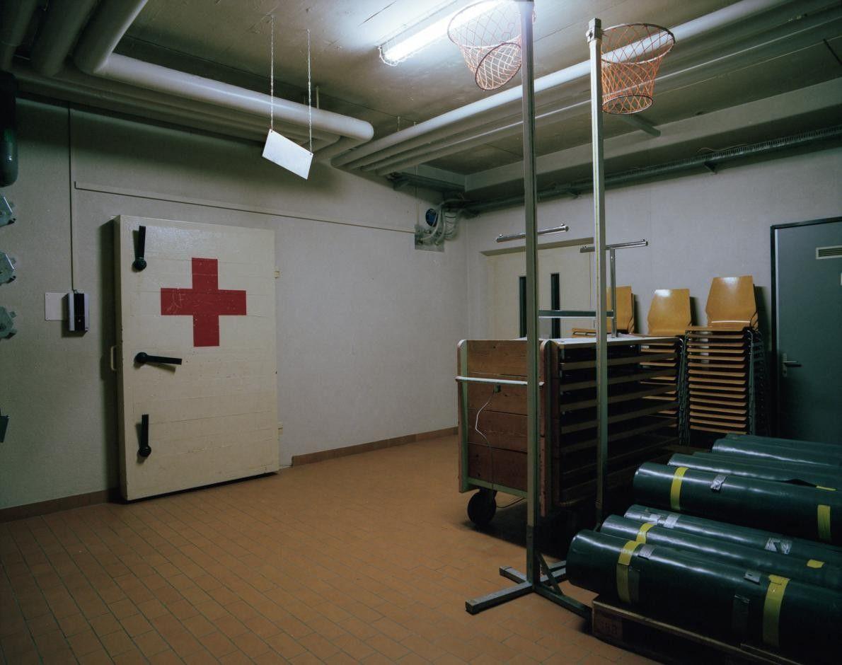 Entrée de l'hôpital sous-terrain, Fort Langnau