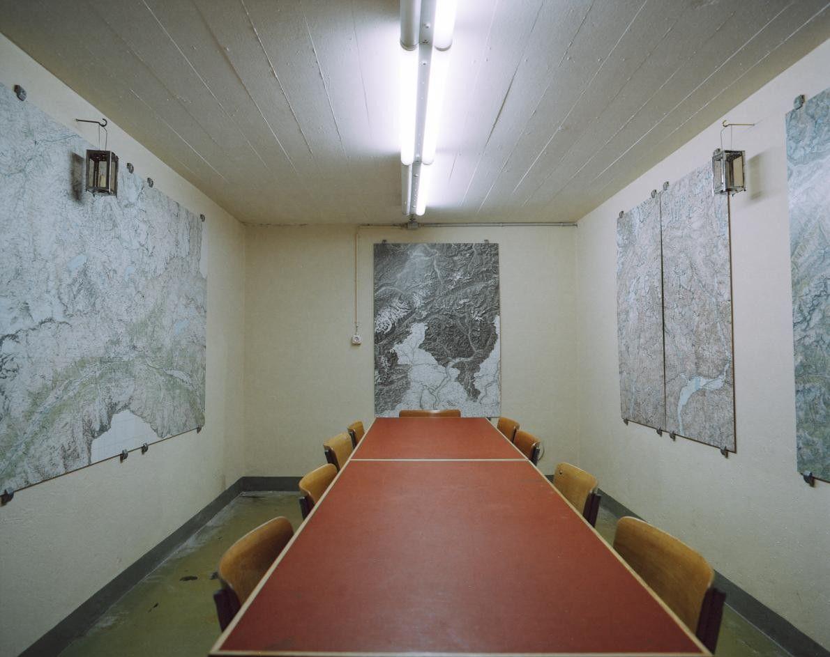 Salle de réunion, Fort Sasso da Pigna