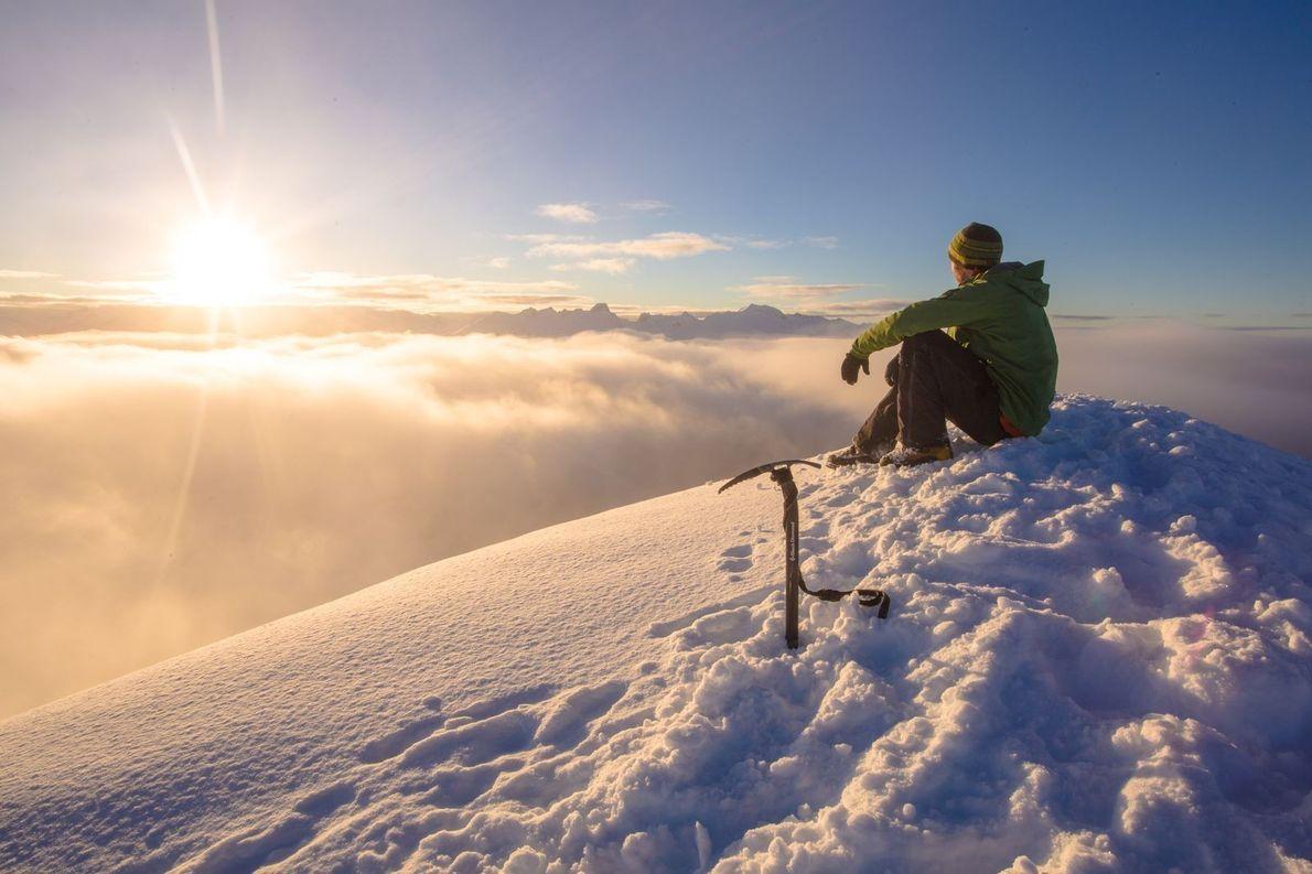 """""""J'ai pris cette photo au petit matin, en décembre 2015, au sommet du Trappers Peak, qui ..."""