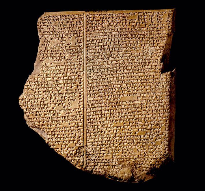 La Tablette narrant l'inondation date du VIIe siècle av. J.-C..