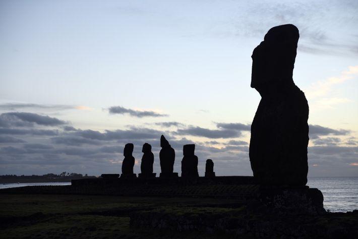 Nul besoin de marcher des kilomètres et de s'aventurer au cœur de l'île de Pâques pour ...