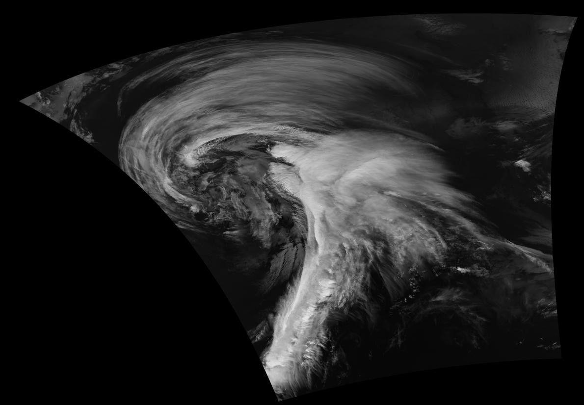 Les océans ne sont pas le seul théâtre des tempêtes tourbillonnantes, comme le prouve cette image ...